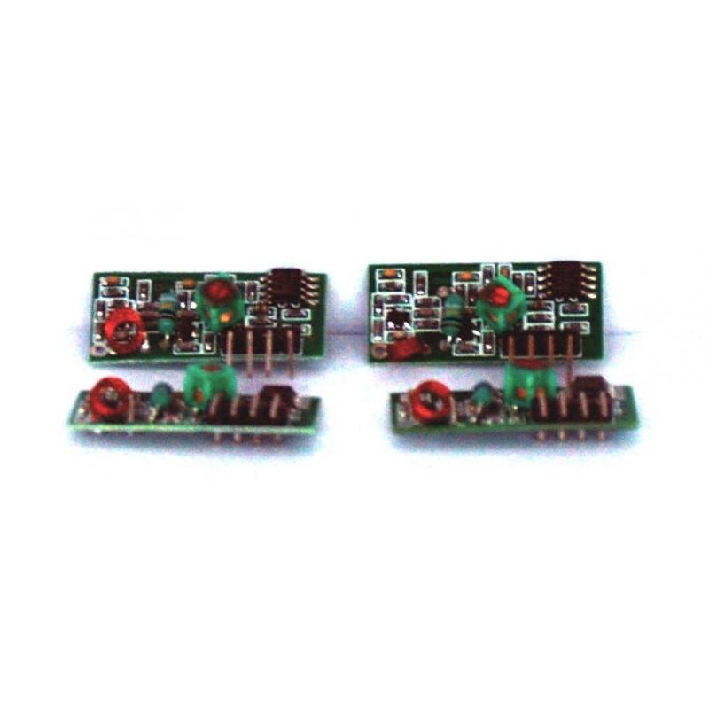 Módulos receptores de RF de 4 AM OOK inalámbricos 433,92 MHz 3-12 V para Arduino e integrados