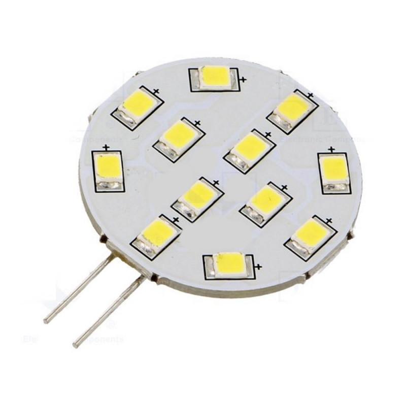 Lampadina LED 12V AC e DC G4 190lm 2W bianco freddo apertura 140°
