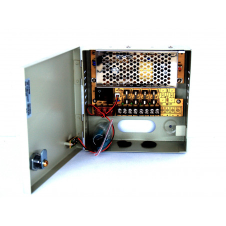 Fuente de alimentación de centralita de 12V de 4 canales para videovigilancia o dispositivos de 12VDC