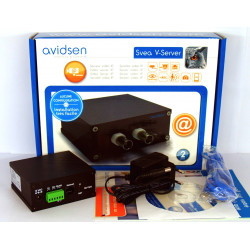 AVIDSEN SVEA VIDEO SERVER - TRASFORMA UNA TELECAMERA IN IP CAMERA CON DVR SD