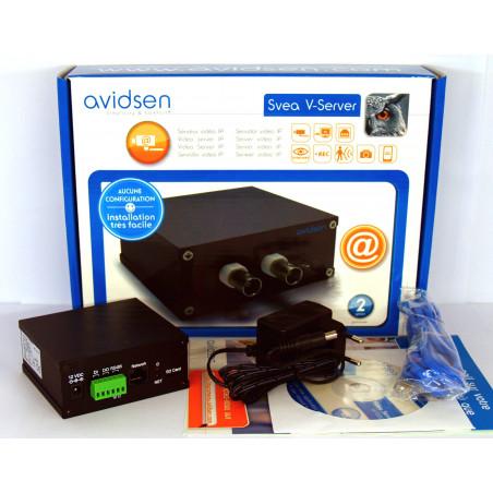 AVIDSEN SVEA VIDEO SERVER - Verwandelt eine Kamera in eine IP-Kamera mit SD-DVR