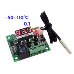MINI THERMOSTAT FROM -50 ° C TO + 110 ° C WITH TEMPERARTURE SET PROBE AND RELAY