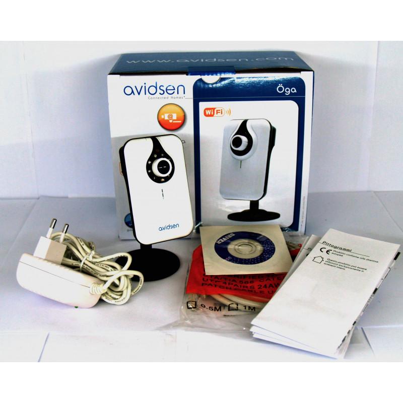 Caméra IP Ethernet + WIFI Avidsen Oga Surveillance vidéo de jour et de nuit avec audio