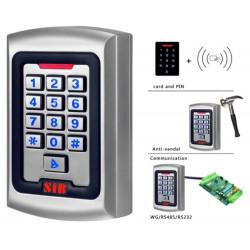Serrure électronique RFID + clavier métallique anti-vandalisme externe interne 2000 utilisateurs