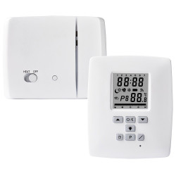 Programmable wireless mobile digital thermostat with 70m radio receiver