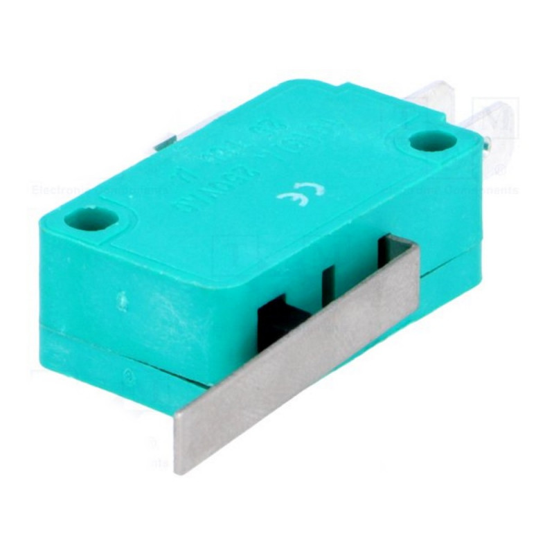 Microcommutatore microswitch SNAP ACTION con leva SPDT 10A/250VAC IP40