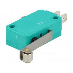 Microinterruptor SNAP ACTION con palanca (con rodillo) SPDT IP40 FASTON