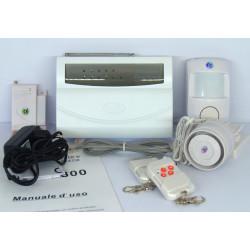 Allarme antifurto senza fili con 70 sensori collegabili e combinatore telefonico