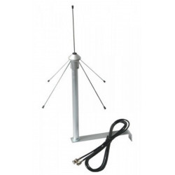 Antenna omnidirezionale ground plane 433MHz staffa cavo connettore BNC 50ohm