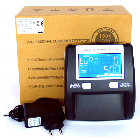 Professional banknote head validator for shops and businesses