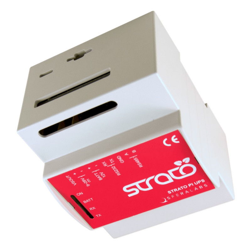 Case contenitore quadro DIN per Raspberry PI 2 e 3 Mod. B per shield STRATO PI