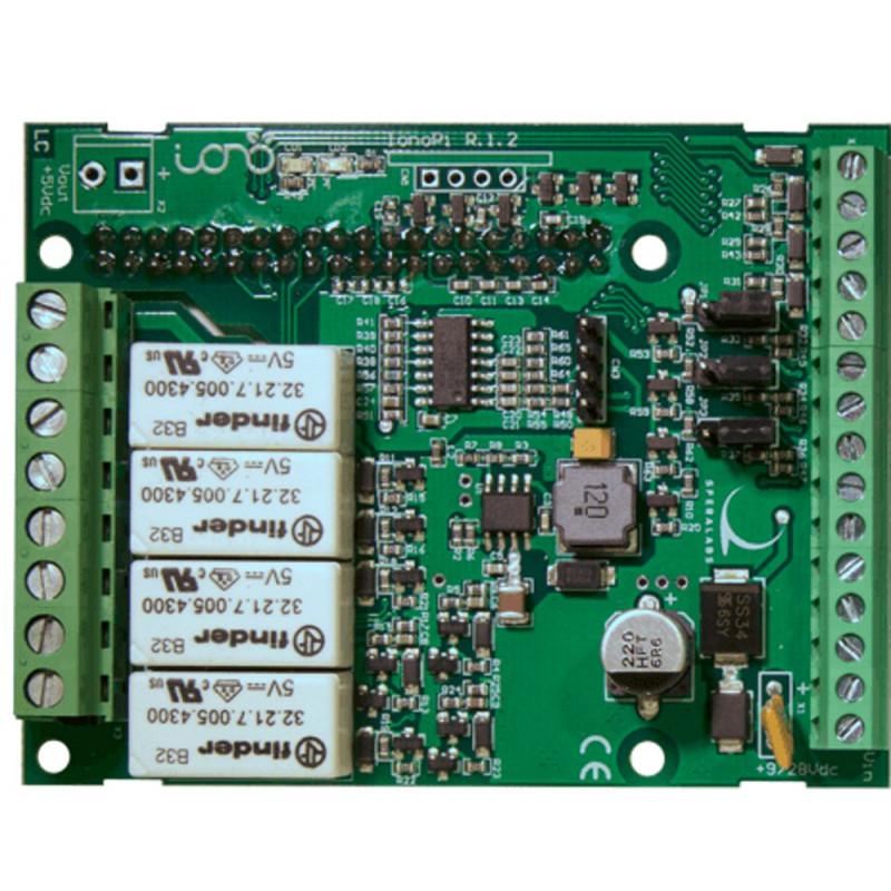 Shield IONO PI scheda espansione per Raspberry PI 4 relè 2 in analogici 7 IO