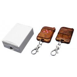 Radiocomando interruttore wireless apricancello apprendimento 4CH 2 telecomandi