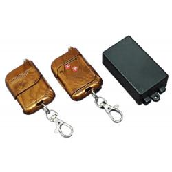 Commande radio de commutateur sans fil d'ouvre-porte d'apprentissage 1CH 2 télécommandes