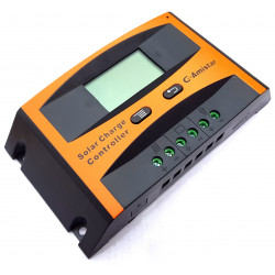 Solar battery charge controller 12 / 24V 10A PWM display adjustable thresholds