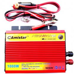 INVERTER AUTO BARCA CAMPER USCITA SINUSOIDALE MODIFICATA 1000W 12V–220VAC+USB
