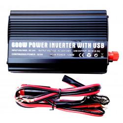 INVERTER CAMION BARCA CAMPER USCITA SINUSOIDALE MODIFICATA 600W 24V–220VAC+USB