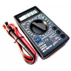 Multimetro digitale misura tensione corrente AC DC resistenza diodo transistor
