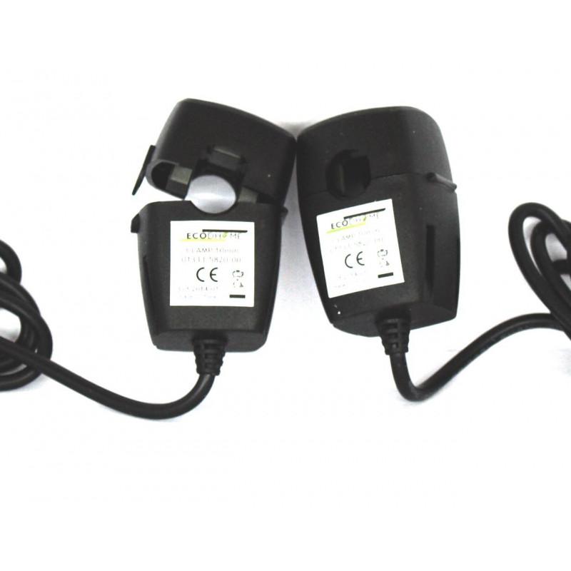 Kit trifásico de pinza doble adicional ECODHOME MCEE TX Solar y USB 10 mm