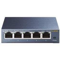 Switch TP-LINK 5 porte 10/100/1000Mbps case acciaio basso consumo