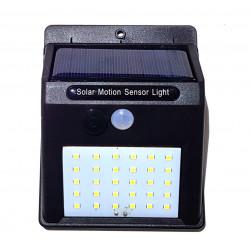 Lámpara de jardín con temporizador de movimiento crepuscular solar de 30 LED y batería de 1200 mAh