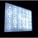 Lampada giardino 30 LED solare crepuscolare movimento timer e batteria 1200 mAh