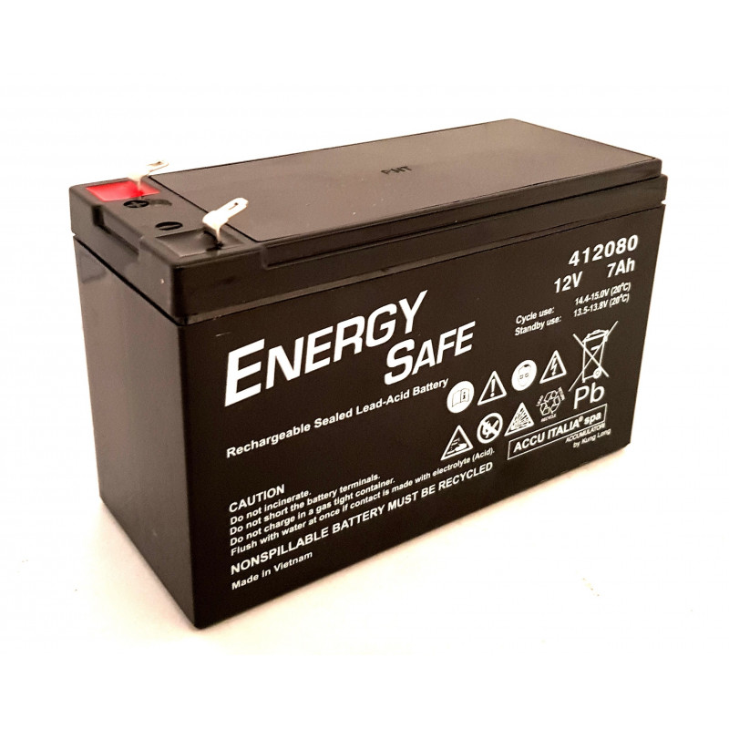 AGM VLRA 12V 7Ah sealed rechargeable lead acid battery for cyclic and standby use