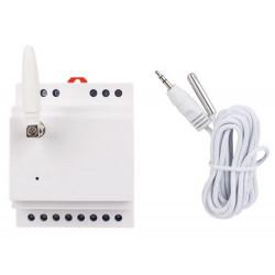 Telecontrollo remoto GSM guida DIN 2 IN 1 OUT relè sonda temperatura termostato