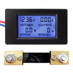 Energy Meter Multimetro Amperometro Voltmetro Power LCD DC 6.5-100 V 100A