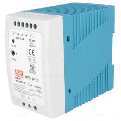 Alimentatore DIN switching stabilizzato 90W 12V DC 7,5A 85÷264VAC cont. DC OK