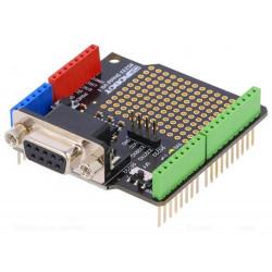 Shield DB9 RS232 MAX3232 con scheda millefori incorporata per Arduino