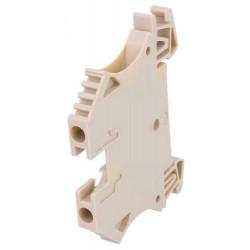 Serrafilo 32A 4mm2 800V a guida barra DIN modulo 2 morsetti beige morsetto vite