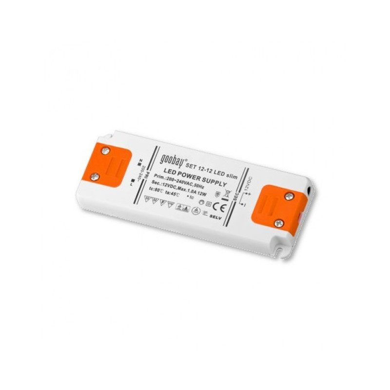 Switching Led power supply 12V DC 15W for encapsulated Led light bar strips (0.5W-15W)