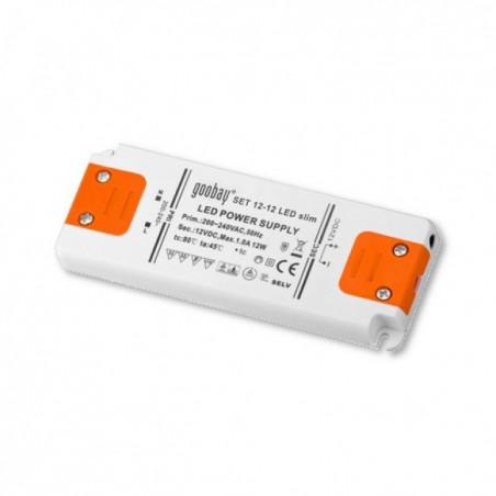 Alimentatore switching Led 12V DC 15W per strisce barre luci Led (0.5W-15W) incapsulato