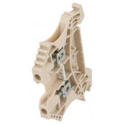 Serrafilo 24A 2.5mm2 800V a guida barra DIN modulo 2 morsetti beige morsetto vite