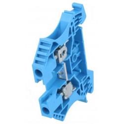 Serrafilo 32A 4mm2 800V a guida barra DIN modulo 2 morsetti blu morsetto vite