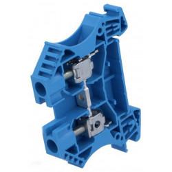 Serrafilo 41A 6mm2 800V a guida barra DIN modulo 2 morsetti blu morsetto vite