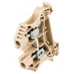 Serrafilo 41A 6mm2 800V a guida barra DIN modulo 2 morsetti beige morsetto vite