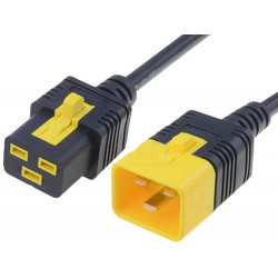 Cavo computer UPS 16A IEC C19 femmina - IEC C20 maschio 2m con bloccaggio nero
