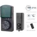 Timer Programmatore da Esterno Ip44 Funzione Countdown con Sensore e Telecomando