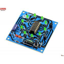 KIT Ruota della fortuna elettronica random con 10 LED rotanti 9 - 12V