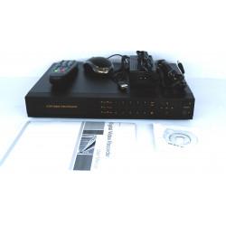 DVR 4 canaux h264 FULL D1 avec HD 1000 Go, Mobile, Alarmes, 24H Reg, Réseau, VGA, Audio