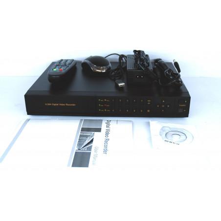 DVR 4 canali h264 FULL D1 con HD 1000 GB, Mobile,Allarmi,Reg 24H,Rete,VGA,Audio