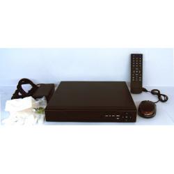 DVR NVR h264 FULL HD con HD 1000 GB, Móvil, Alarmas, Reg 24H, Red, VGA, HDMI, Audio