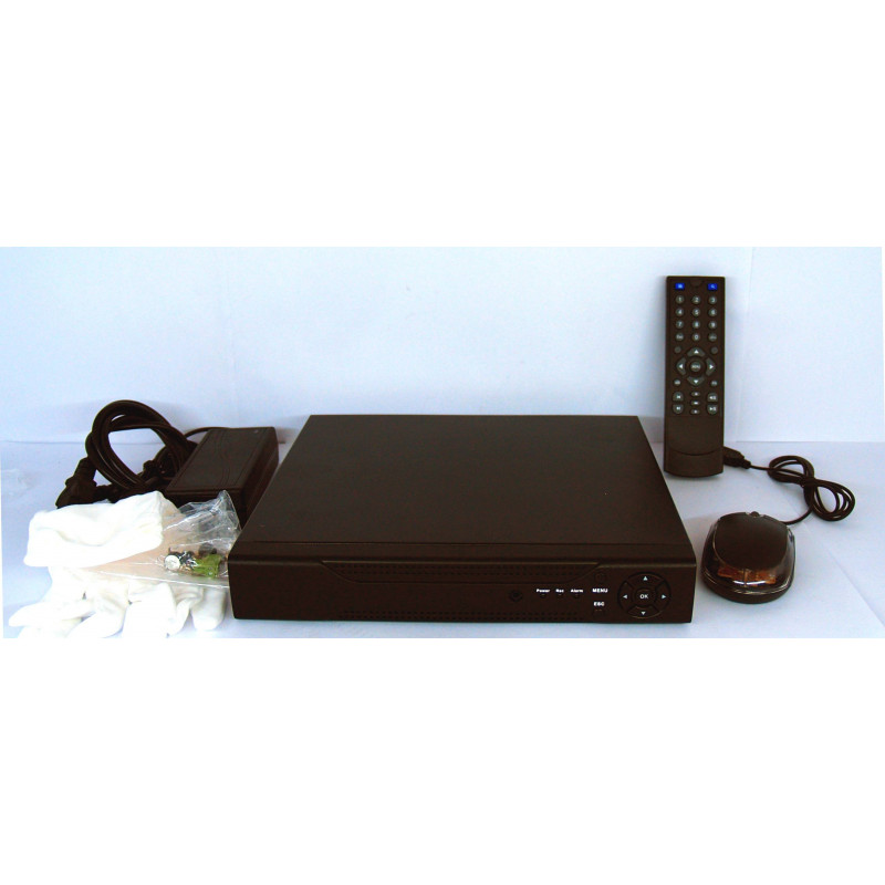DVR NVR h264 FULL HD con HD 1000 GB, Mobile,Allarmi,Reg 24H,Rete,VGA,HDMI,Audio
