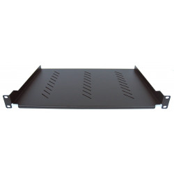 Mensola armadio Rack 19'' 310 mm Nera