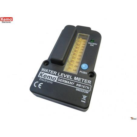 Indicatore di livello a batteria per serbatoi d'acqua con controllo remoto fino 100m