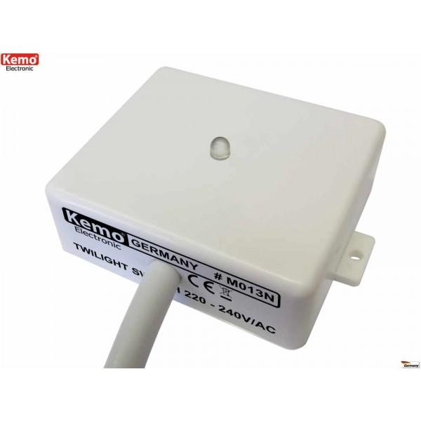 Schema Elettrico Interruttore Crepuscolare 230v : Interruttore sensore crepuscolare da esterno interno v