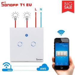 Sonoff T1 Interruttore touch parete 2 CH WiFi + Radiocomando autoapprendimento