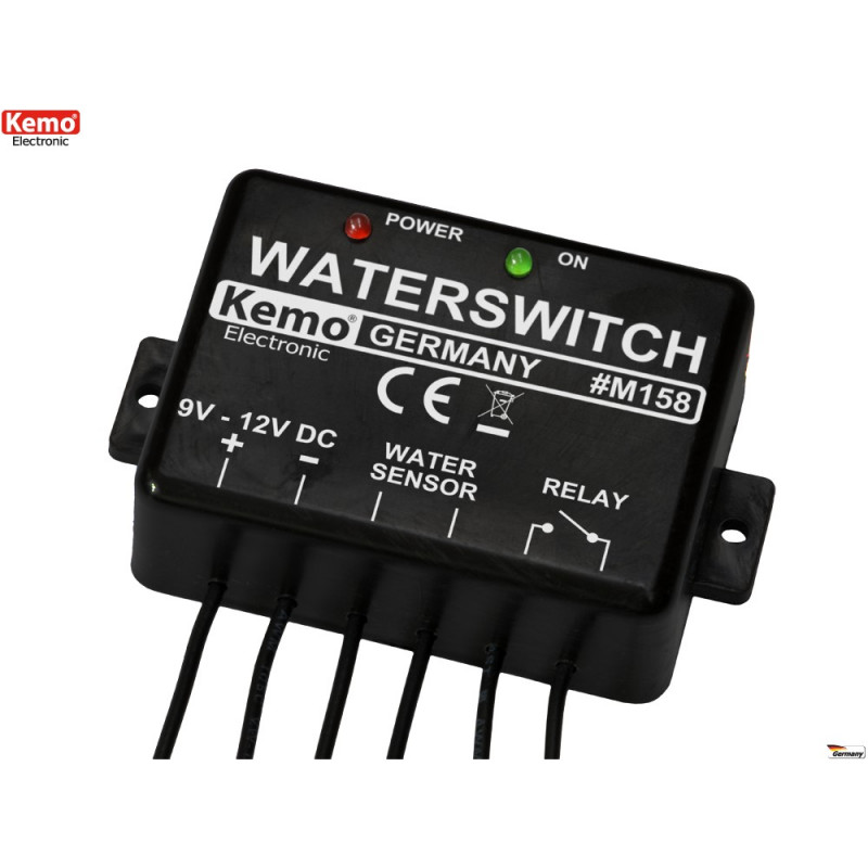 12V DC water or conductive liquid switch with relay contact at output